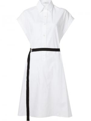Платье-рубашка без рукавов Tome. Цвет: белый