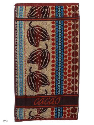 Полотенце махровое пестротканое жаккардовое Cocao Авангард. Цвет: темно-коричневый