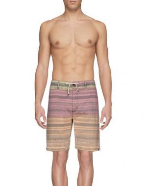 Пляжные брюки и шорты RIPCURL. Цвет: пастельно-розовый