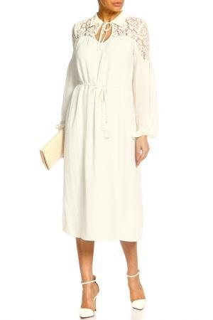 Платье Marks & Spencer. Цвет: слоновая кость микс