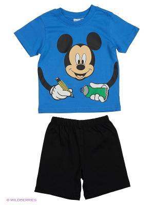 Пижама Disney. Цвет: синий, черный
