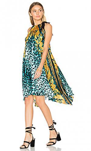 Шелковое платье палаццо Sauvage. Цвет: синий