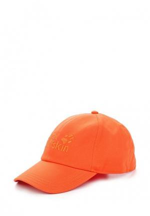 Бейсболка Jack Wolfskin. Цвет: оранжевый