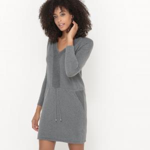 Платье-пуловер трикотажное. SUD EXPRESS. Цвет: серый меланж
