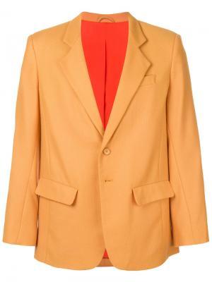 Классический пиджак Eckhaus Latta. Цвет: жёлтый и оранжевый