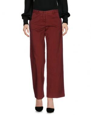 Повседневные брюки SCAGLIONE CITY. Цвет: кирпично-красный