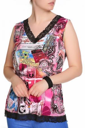 Блуза LAVELLE. Цвет: розовый
