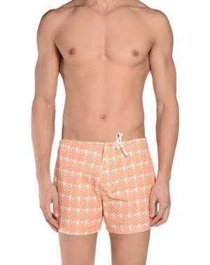 Пляжные брюки и шорты PIOMBO. Цвет: охра