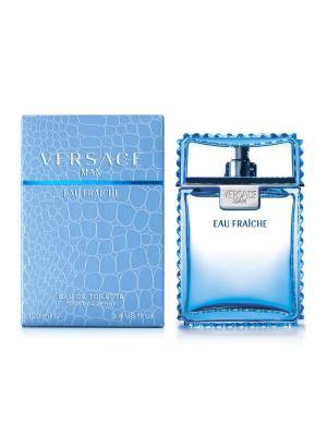 Туалетная вода Eau Fraiche, 100 мл Versace. Цвет: голубой