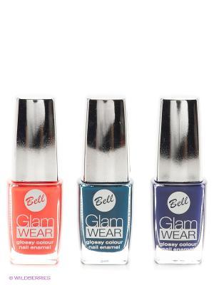 Bell  Спайка ( лак с глянцевым эффектом glam wear тон 508 + 513 520). Цвет: оранжевый, синий