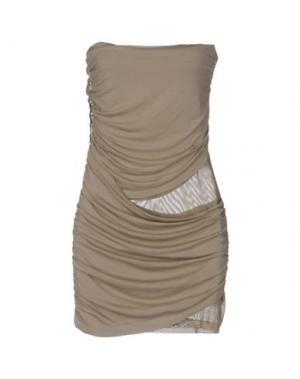 Короткое платье MET MIAMI COCKTAIL. Цвет: хаки