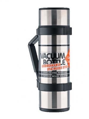 Термос со стальной колбой  NCB-18B Rocket Bottle 1.8L Black Thermos. Цвет: серый
