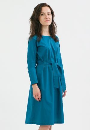 Платье Monoroom. Цвет: бирюзовый