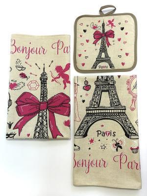 Набор полотенец A and C Collection. Цвет: бежевый, розовый, черный