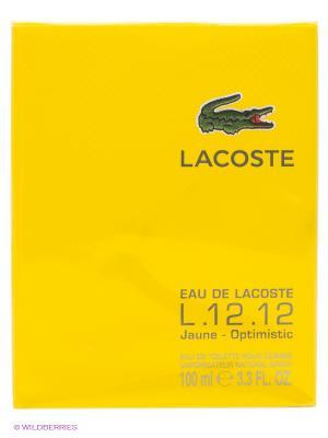 Туалетная вода Eau De Lacoste, 100 мл Lacoste. Цвет: желтый