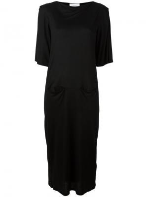 Трикотажное платье Facetasm. Цвет: чёрный