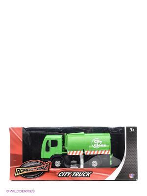 Зеленая уборочная машина из серии Городские машины HTI. Цвет: зеленый