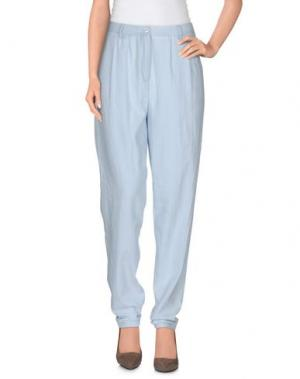 Повседневные брюки DES PETITS HAUTS. Цвет: небесно-голубой