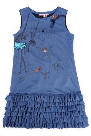 Платье Mariella Burani. Цвет: синий