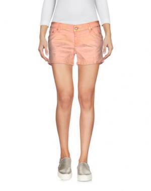 Джинсовые шорты REIGN. Цвет: лососево-розовый