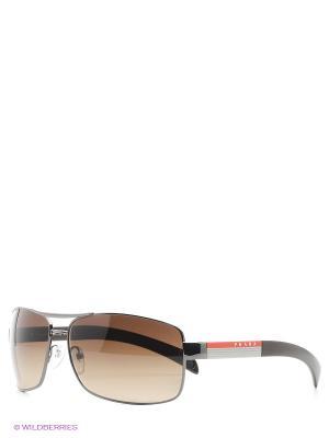 Очки солнцезащитные Prada Linea Rossa. Цвет: коричневый