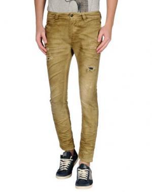 Джинсовые брюки DIESEL. Цвет: охра