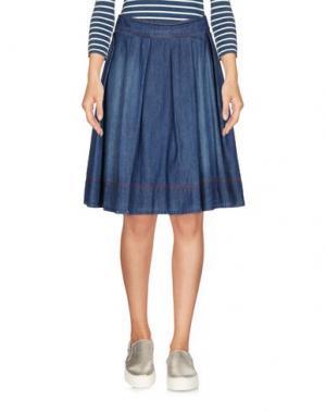 Джинсовая юбка EMMA&GAIA. Цвет: синий