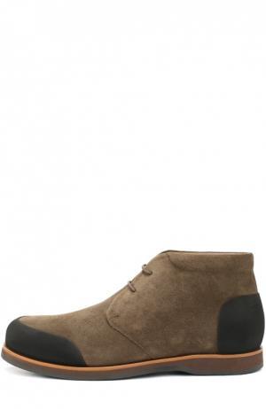Замшевые ботинки с внутренней меховой отделкой Zonkey Boot. Цвет: оливковый
