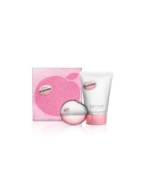 Подарочный набор парфюмированная вода 30 мл и лосьон для тела  100 Fresh blossom holiday DKNY. Цвет: розовый