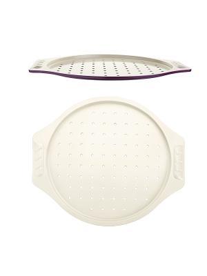Форма для пиццы  38,5х35х1,2см Augustin Welz. Цвет: фиолетовый, молочный