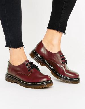 Park Lane Кожаные туфли на шнуровке. Цвет: красный