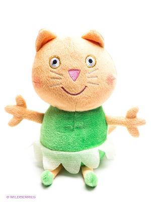 Мягкая игрушка Котенок Кэнди балерина, Свинка Пеппа Peppa Pig. Цвет: бежевый, зеленый