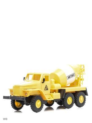 Машина спецтехника бетономешалка Drift. Цвет: желтый