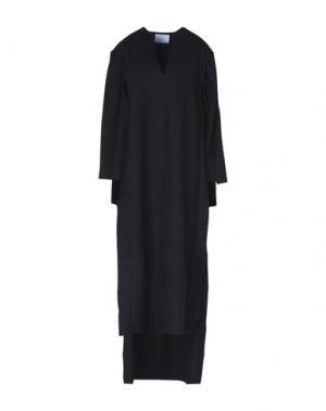 Платье длиной 3/4 CHARLIE MAY. Цвет: черный