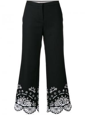 Укороченные брюки  с вышивкой Emilio Pucci. Цвет: чёрный