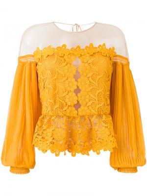 Mellow lace top Three Floor. Цвет: жёлтый и оранжевый