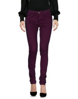 Повседневные брюки MAISON ESPIN. Цвет: пурпурный