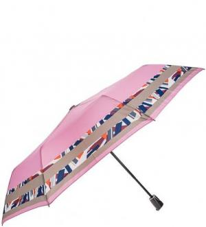 Складной зонт с системой антиветер Doppler. Цвет: розовый