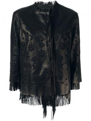 Куртка с вышивкой Ermanno Scervino. Цвет: чёрный