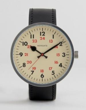 Newgate Винтажные часы с кожаным ремешком Grand Drummer. Цвет: черный