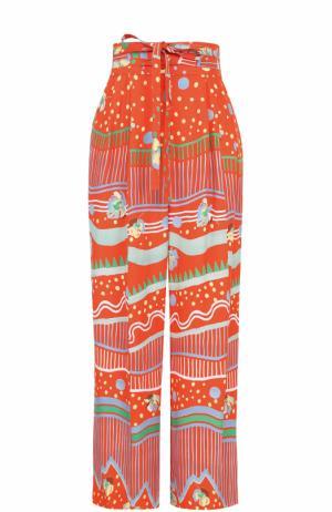 Укороченные брюки с принтом Marc Jacobs. Цвет: оранжевый