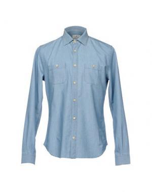 Джинсовая рубашка BROOKSFIELD. Цвет: синий