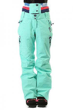 Штаны сноубордические женские  Palace Mint Green Picture Organic. Цвет: голубой