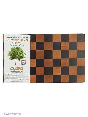 Доска разделочная Шахматы CUBO. Цвет: светло-коричневый, темно-бежевый