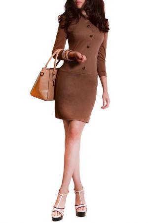 Платье FRANCESCA LUCINI. Цвет: мокко