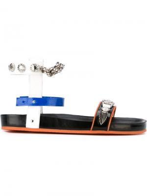Босоножки с цепочками Toga. Цвет: чёрный