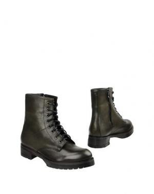 Полусапоги и высокие ботинки LEONARDO PRINCIPI. Цвет: зеленый-милитари