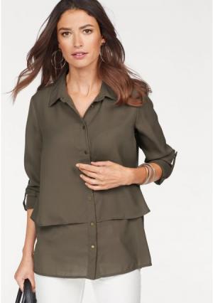 Блузка Laura Scott. Цвет: кремовый, хаки