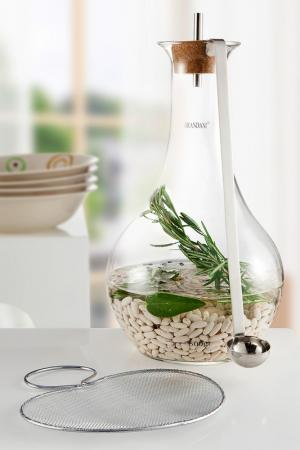 Набор для приготовления фасоли Brandani. Цвет: металлический