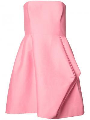 Платье без рукавов Halston Heritage. Цвет: розовый и фиолетовый